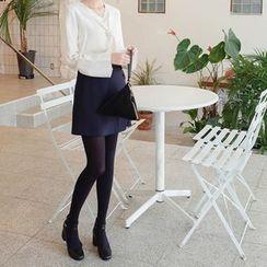 mimi&didi - Wrap-Front A-Line Mini Skirt