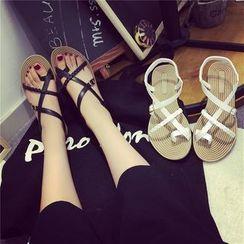 Hipsole - Cross-Strap Flat Sandals