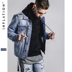 Newin - Distressed Denim Jacket