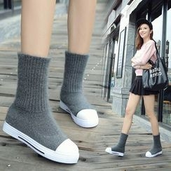 YIVIS - Knit Short Boots