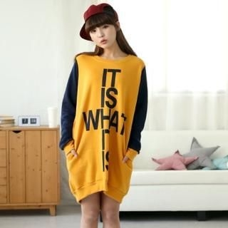 Cocopop - Color-Block Pullover Dress