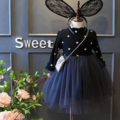 Spring Swallow - Kids Mock Two-Piece Dress
