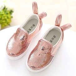 Luco - Kids Bunny Ear Sequined Slip-Ons