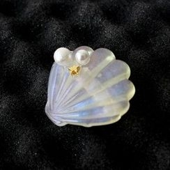 Ginga - Faux Pearl Shell Hair Clip