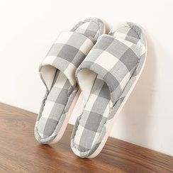 Yulu - Couple Matching Gingham Slippers
