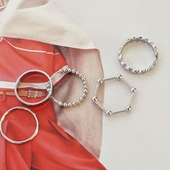 DANI LOVE - Set of 5: Metallic Ring