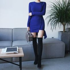 DABAGIRL - Cutout-Hem Rib-Knit Bodycon Dress