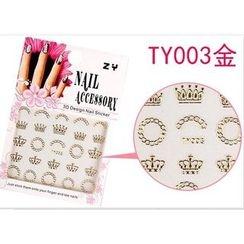 Benlyz - 3D Nail Sticker (TY-3G)