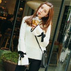 ZIZI - Contrast Trim Chunky Sweater