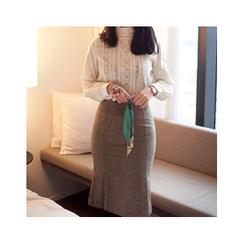 MASoeur - Wool Blend Pencil Skirt