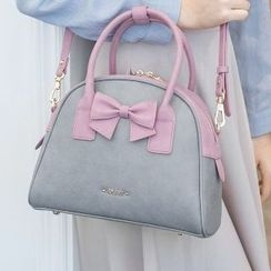Axixi - Bow-Accent Color-Block Tote