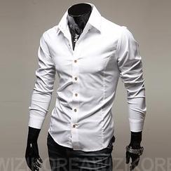 WIZIKOREA - Slim-Fit Dress Shirt
