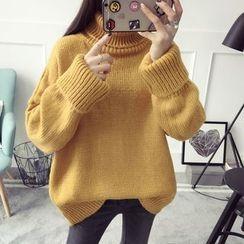 Qimi - High Neck Thick Sweater