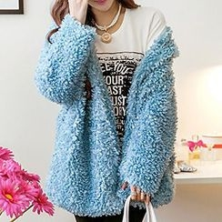 Melodious - Furry Snap-Button Jacket