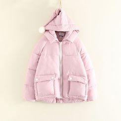 Mushi - Bobble Hooded Padded Coat