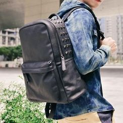 SeventyAge - Studded Leather Backpack