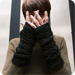 K-Style - Cable-Knit Fingerless Gloves