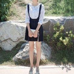 Everose - Plain Pleated Jumper Skirt