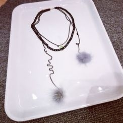 Ticoo - Fluffy Layered Necklace