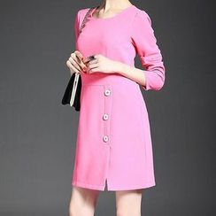 Alaroo - Long-Sleeve Buttoned Dress