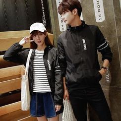 CASSY - Couple Matching Lettering Jacket