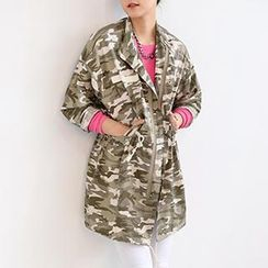 SO Central - Camouflage Drawstring-Waist Jacket