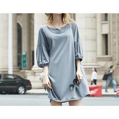 VIZZI - Maternity Lantern Sleeve Dress