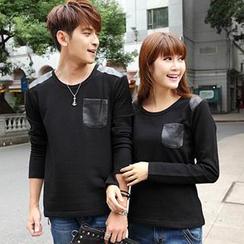 Igsoo - 情侶長袖 T 恤