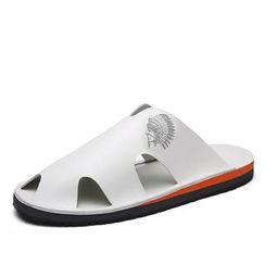 EnllerviiD - Cutout Slide Sandals