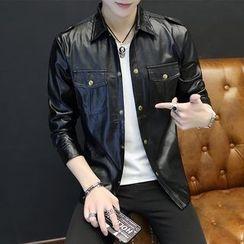 Kunji - Faux-Leather Jacket