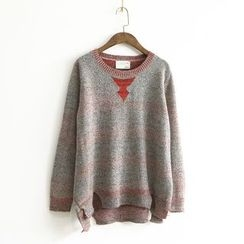 Ranche - Mélange Notch Hem Sweater
