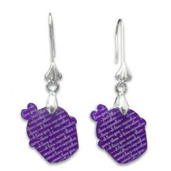 Sweet & Co. - I Love Cupcakes Mirror Violet Charm Earrings
