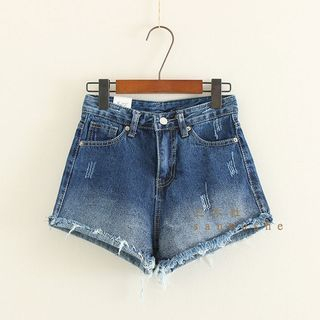Mushi - Fray Denim Shorts