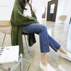 MARSHMALLOW - Maternity Washed Straight-Cut Jeans