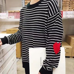 Dasim - Heart Striped Sweater