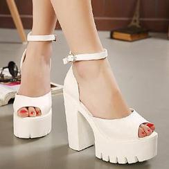 Mancienne - Platform Chunky Heel Sandals