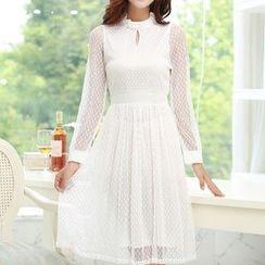 Isadora - Long Sleeve A-Line Lace Dress