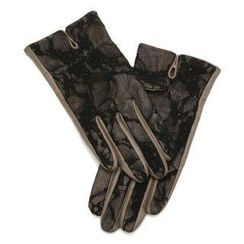 O.SA - Lace-Panel Lambskin Gloves