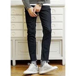 JOGUNSHOP - Stitched Slim-Fit Pants