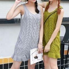 Fashion Street - Cable Knit Tank Dress