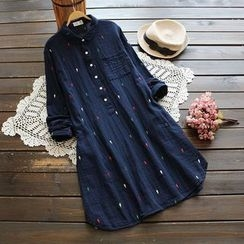 YOYO - Embroidered Collared Dress