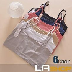 LA SHOP - Plain Cropped Camisole Top