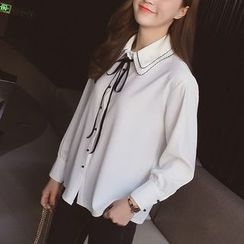 Cocofield - Bow Neck Blouse