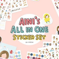 BABOSARANG - Set of 3: Korean Lettering Diary Sticker (22 sheets)
