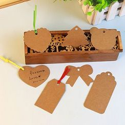 MissYou - Set of 50: Kraft Paper Gift Tag