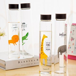 Show Home - Animal Printed Glass Bottle