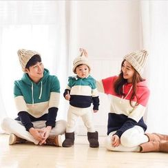 Dream Team - Family Matching Color Panel Hoodie