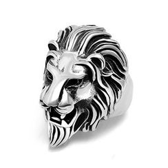 Andante - Titanium Steel Lion Ring