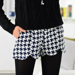 59 Seconds - Houndtooth Pattern Shorts