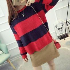 Dream Girl - Colour Block Knit Top